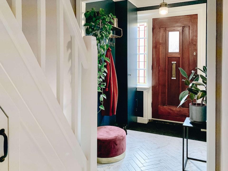 [furniture plant room indoors flooring flower blossom interior design] Hal makeover