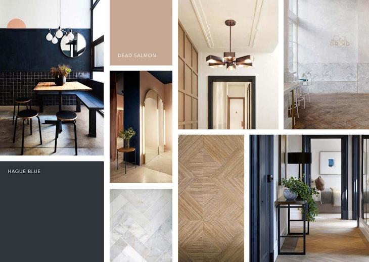 interior design indoors door floor wood Hal makeover moodboard