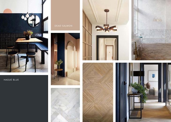 [interior design indoors door floor wood] Hal makeover moodboard