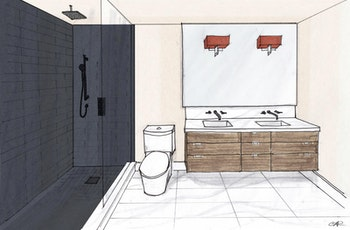 indoors room bathroom