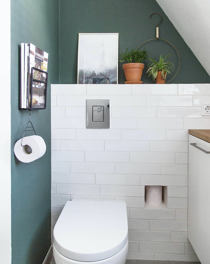 inbouwtoilet toiletrolhouder
