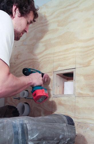 [] inbouw toiletrolhouder