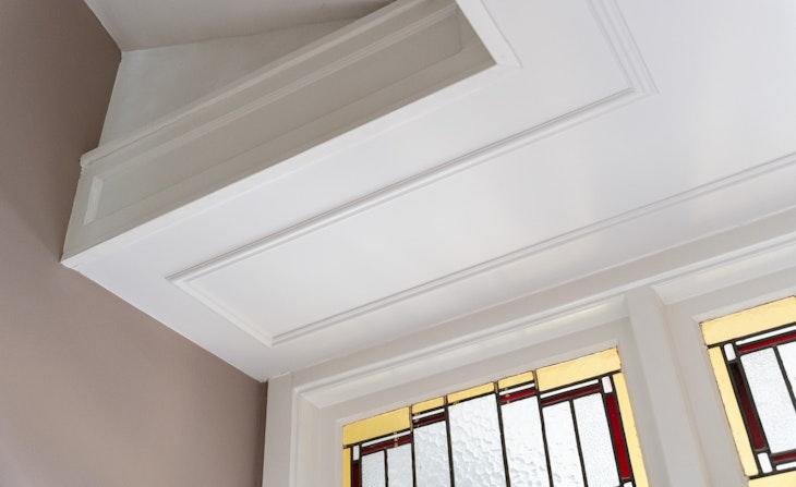 sierlijsten plafond diy glas-in-lood