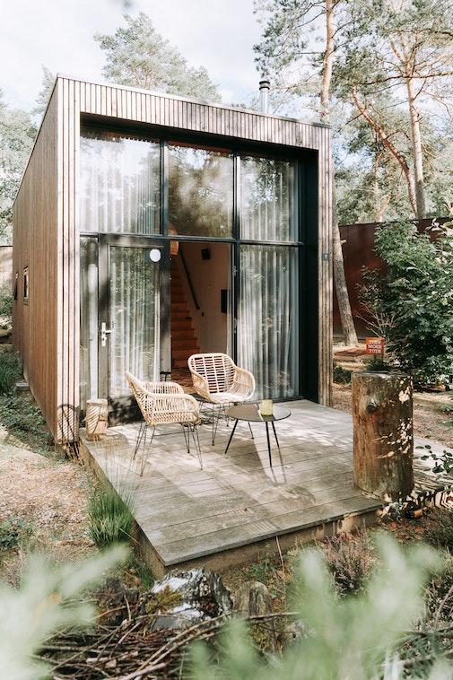 tinyhouse interieur outdoor droomparken industrieel  tinyhouse vlonder